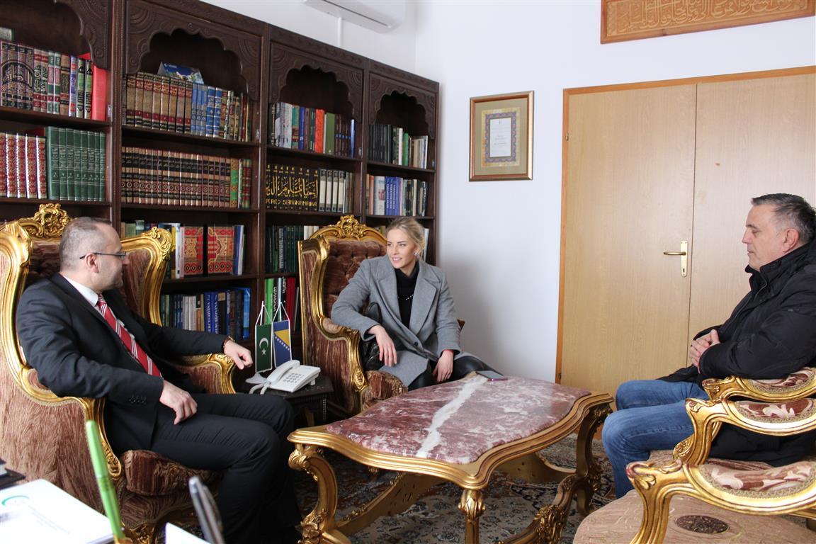 Amina Kajtaz posjetila Muftijstvo mostarsko